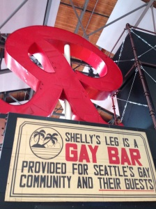 Interpretation of Seattle's queer community is included in the Museum of History and Industry's permanent exhibit. Photo by Susan Ferentinos.