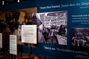 In the section that addresses Stonewall, white faces are featured. Where are the faces of QTPOC? Photo courtesy the National Constitution Center.